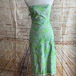 Lilly Pulitzer Strapless Tie Back Dress. Size 10